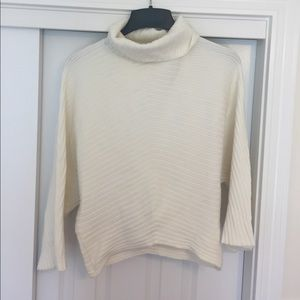 Moth Cream Lush Turtleneck with Bell Sleeves